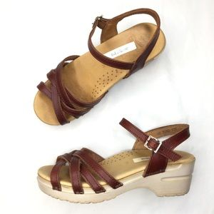 Dansko Mirabelle Brown Clog Sandals